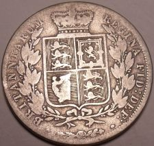 Buy Huge Rare Silver Great Britain 1884 Half Crown~We Have G.B. Coins~Free Shipping~