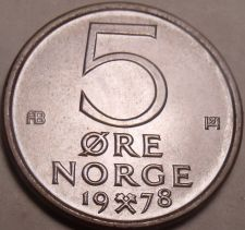 Buy Norway Gem Brillaint Unc 1978 5 Ore~Awesome~We Have Gem Unc Coins~Free Shipping