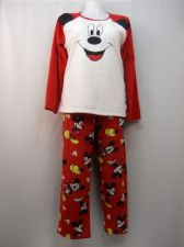 Buy Disney Mickey Women's Pajamas 2PC Set Size 2X Sleep Shirt, Pants Minky Fleece