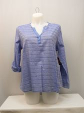 Buy SIZE 20 Womens Shirt FADED GLORY Striped Chambray V Neck Long Sleeve Pullover