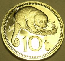 Buy Proof Papua New Guinea 1975 10 Toea~Cuscus~1st Year Ever Minted~Free Shipping
