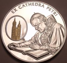 Buy Rare Silver & Gold Proof Malta 2004 100 Liras~2,988 Minted~Chair Of St.Peter~F/S