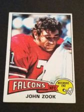 Buy VINTAGE JOHN ZOOK FALCONS 1975 TOPPS FOOTBALL GD-VG