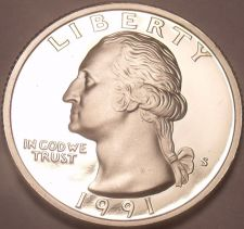 Buy United States Proof 1991-S Washington Quarter~See Our Proof Coins~Free Shipping