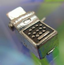 Buy vintage STERLING HAND CRANK 10 KEY CALCULATOR CHARM : LOOKS LIKE IT OPENS SIGNED