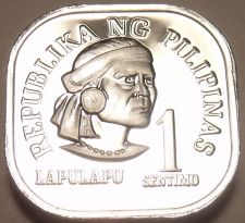 Buy Rare Proof Philippines 1976 Sentimo~Only 9,901 Minted~Square Coin~Free Shipping