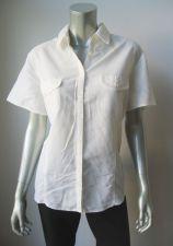 Buy Croft & Barrow NEW Ivory 2 Covered Pockets Short Sleeve Button Down Shirt XL PR