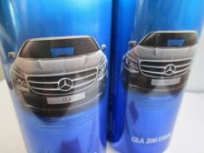 Buy BENZ GLA 200 Urban Advertising on Soda Cola Cans Lot of 3 Empty Tins Bottom leak