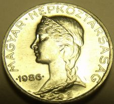 Buy Rare Gem Unc Hungary 1986 5 Filler~Only 30,000 Minted~Free Shipping*