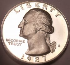 Buy 1987-S CAMEO PROOF WASHINGTON QUARTER~FREE SHIPPING~