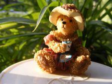 """Buy Tea Cup and Saucer """"Tea Time"""" Miniature Teddy Bear Figurine by Boyd"""