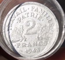 Buy FULL ROLL(20) CIRCULATED LARGE FRANCE 2 FRANCS COINS~ALL PRE-1950~FREE SHIPPING~