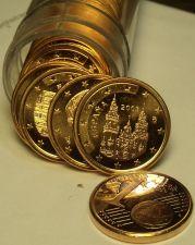 Buy Gem Unc Roll (40) Spain 2003 1 Euro Cents~Cathedral of Santiago de Compostela~FS