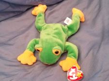 Buy RETRO ORIGINAL TY BEANIE BABY PLUSH SMUCHEY FROG COLLECTIBLE NICE