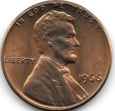 Buy United States Unc 1966-P Lincoln Memorial Cent~Free Shipping
