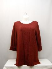 Buy Plus Size 3X Women's Tunic Sweater STYLE&CO. Marl Red 3/4 Sleeves Scoop Neck