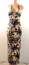 Buy Cristina Love Full-Length Halter Maxi Dress. Beige Brown