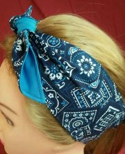 Buy Headband hair wraptie bandanna print great for bikers men women