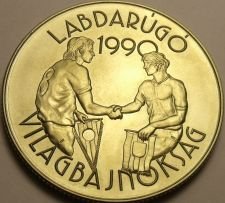 Buy Rare Gem Unc Hungary 1989 100 Forint~World Cup Soccer~23,000 Minted~Free Ship
