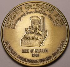 Buy Gem Unc Security Homestead Assn. 80th Anniversary Medallion~THE BIG ONE~Fr/Ship