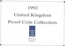 Buy 1992 Great Britain 9 Coin 2 Page C.O.A. Document Set~Free Shipping