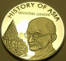 Buy Gem Cameo Proof Cook Islands 2004 Dollar~Mohandas Ghandhi~Awesome~Free Shipping