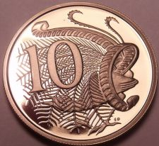 Buy Cameo Proof Australia 1980 10 Cents~Only 68,000 Minted~Lyrebird~Free Shipping