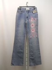 Buy Women's Jeans SIZE 5-6 MILANO MODA Stonewashed Embellished Boot Cut Legs 28X33