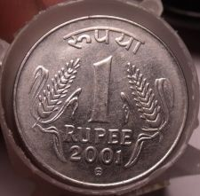 Buy Roll (35 Coins) Circulated India Rupee Coins~Dates Between 1993-2004~Free Ship