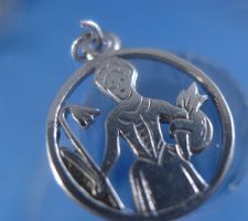 Buy vintage 850 SILVER CHARM : LITTLE BO PEEP ??