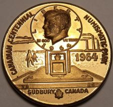Buy 1964 Numismatic Park Canadian Centennial Sudbery Proof Medallion~Free Shipping