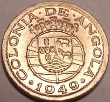 Buy Rare Gem Unc Angola 1949 10 Centavos~300th Anniversary - Revolution of 1648~Fr/S