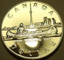 Buy Gem Cameo Silver Proof Canada 1984 Toronto Sesquicentennial Dollar~Free Ship