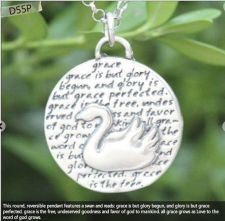 Buy Inspirational Kevin & Anna Charm 950 Silver / SWAN = GRACE QUOTE / 22mm