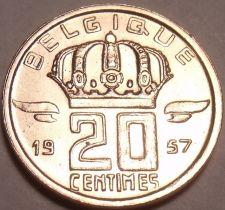 Buy Gem Unc Belgium 1957 20 Centimes~We Have Older Unc Coins 4 Sale~Free Shipping