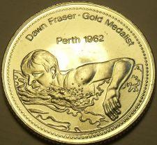 Buy Large Gem Unc Dawn Fraser~Gold Medalist Medallion~Excellent~Free Shipping