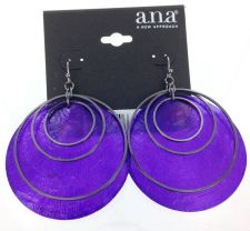 Buy A.N.A Purple Shell Earrings