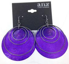 Buy A.N.A Purple Shell Earrings