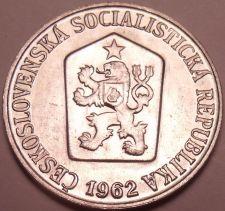 Buy Gem Unc Czechosovakia 1962 5 Haleru~1st Year Ever~Czech lion~Free Shipping