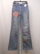 Buy Milano Moda Stonewashed Embellished Boot Cut Legs 28X33 Women's Jeans Size 5-6