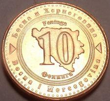 Buy Gem Unc Bosnia-Herzegovina 1998 10 Feninga~1st Year Ever~Fantastic~Free Shipping