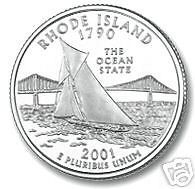 Buy 2001-D RHODE ISLAND BRILLIANT UNC STATE QUARTER