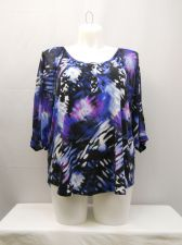 Buy Style & Co Geometric Scoop Neck Dolman Sleeves Top Size XL