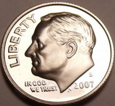 Buy SUPER PROOF 2007-S ROOSEVELT DIME~COLLECT THE BEST~F/SH
