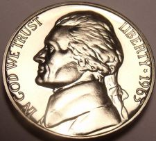 Buy United States Gem Proof 1963 Jefferson Nickel~We Have Jefferson Nickels~Free Shi