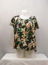 Buy PLUS SIZE 2X Womens Top ELEMENTZ Floral Multi-Color Short Sleeves Scoop Neck