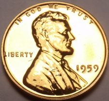 Buy United States Proof 1959 Cent~1st Memorial Proof Coin~Free Shipping