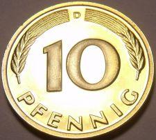 Buy Gem Cameo Proof Germany 1982-D 10 Pfennig~Minted In Munich~78,000 Minted~Free Sh