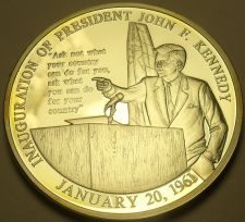 Buy Silver Plated Proof John F Kennedy Inauguration Speech 40mm Medallion~Free Ship
