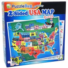 Buy PuzzleBug 2 -Sided USA Map Learning Puzzle